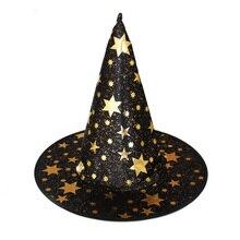 Original 6 teile/satz Halloween Hexe Hüte Maskerade Wizard Hut Party Caps Cosplay Kostüm Halloween Party Phantasie Kleid Decor