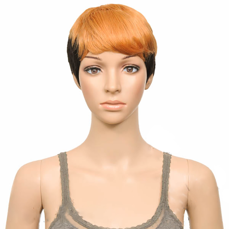 HAIRJOY Women Bump Wigs Synthetic Hair Short Straight Heat Resistant 2-Tone Double Color Wig 7 Colors Free Shipping