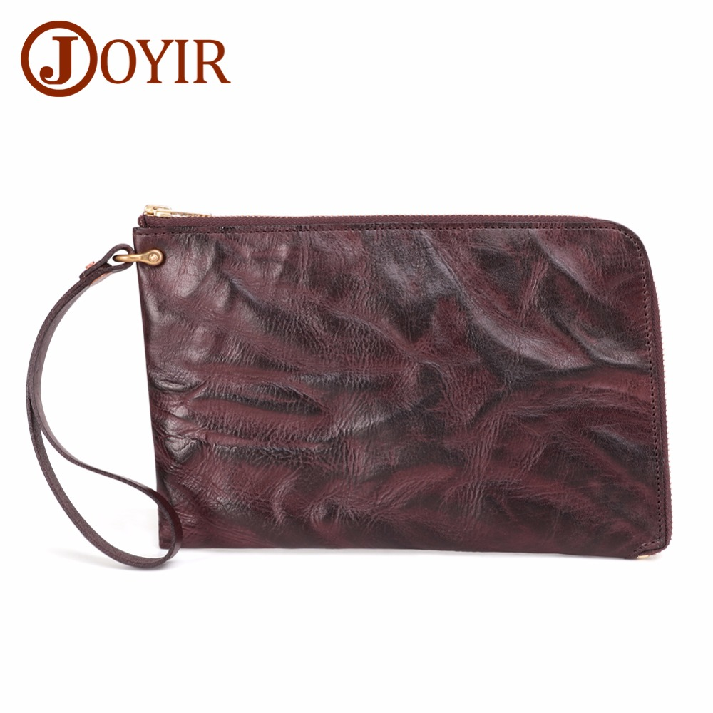 JOYIR Wallet Male Genuine Leather Mens Wallets for Credit Card Holder Clutch leather Coin Purse Business