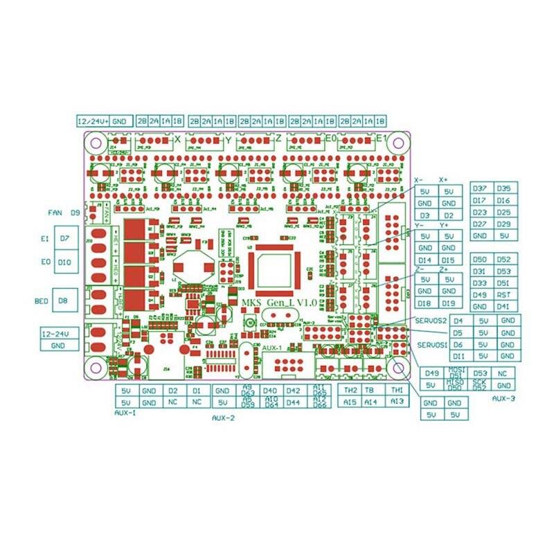 Haute Qualité Carte Mère Makerbase MKS GEN L avec 5 pièces DRV A4988 Conducteur + 3D Touches Module Ensemble pour 3D Imprimante
