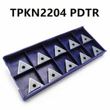 Carbide insert TPKN2204 PDTR LT30 high quality triangular outer metal turning CNC machine parts lathe tool milling tools