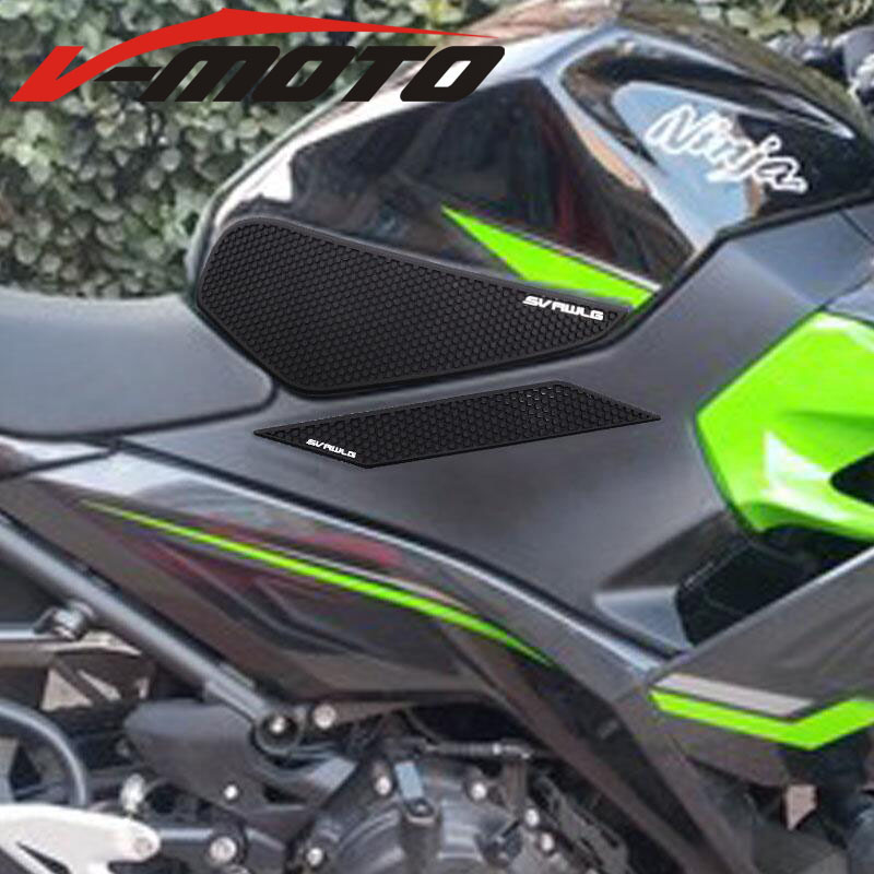High-quality 2019 For Kawasaki Ninja400 Ninja 400 2018rubber Material Tank Cushion Side Protector Tank Slip Sticker To Ensure A Like-New Appearance Indefinably Motorbike Accessories