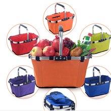 Складные корзины Спринт Лето Пикник Оксфорд Лагерь Корзина Прочный моющийся организации сумки дом супермаркет покупки