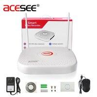 Acesee HI3536D 4CH Sistema de Cámaras de Seguridad IP WIFI NVR Inicio Sistemas de Alarma de CIRCUITO CERRADO de televisión Grabador H.264 de Vigilancia de Vídeo Inalámbrico Wi fi