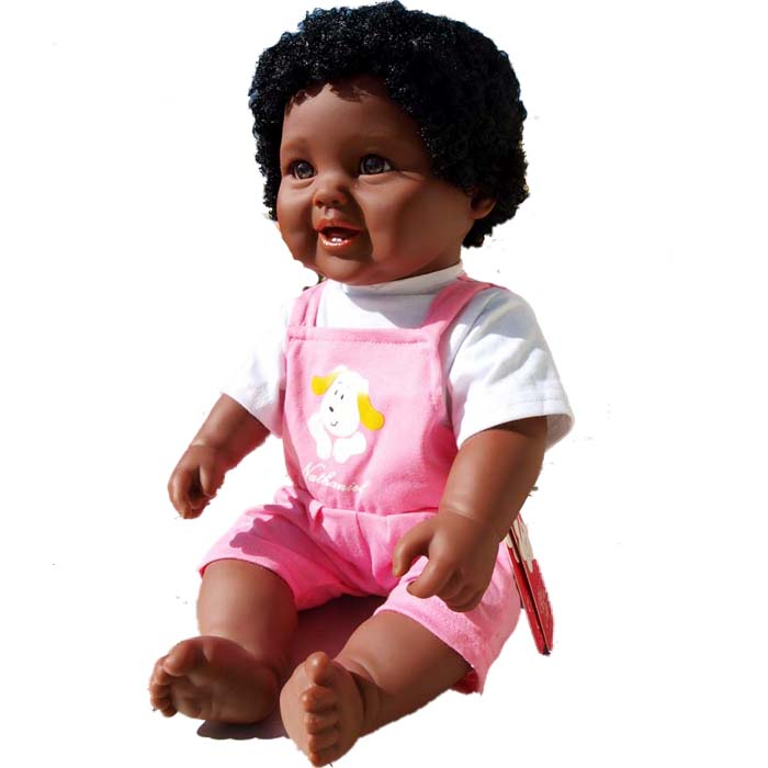 Black Doll Alive Babies Dolls Reborn 48cm Will Speak Will Music Vinyl Baby Doll Toy Realistic Girl Kids Birthday Xmas Gift At Any Cost Dolls