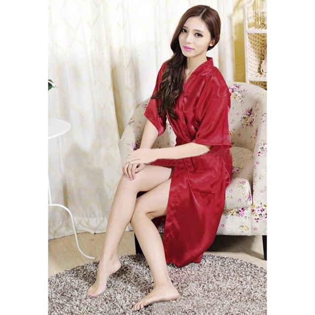 1713cf3139 Satin Silk Dressing Gown Wedding Bride Bridesmaid Satin Robe Personalized  Bridal Sleepwear Gown Bath Fashion Nightwear Dress