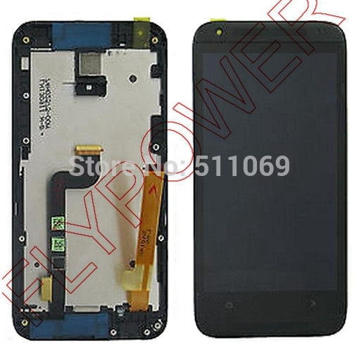 For HTC Desire 601 Zara New Full LCD Screen Display with Touch Screen Digitizer Assembly+Frame by free shipping; black color; HQ for htc desire 816g lcd screen display with touch screen digitizer assembly by free shipping 100