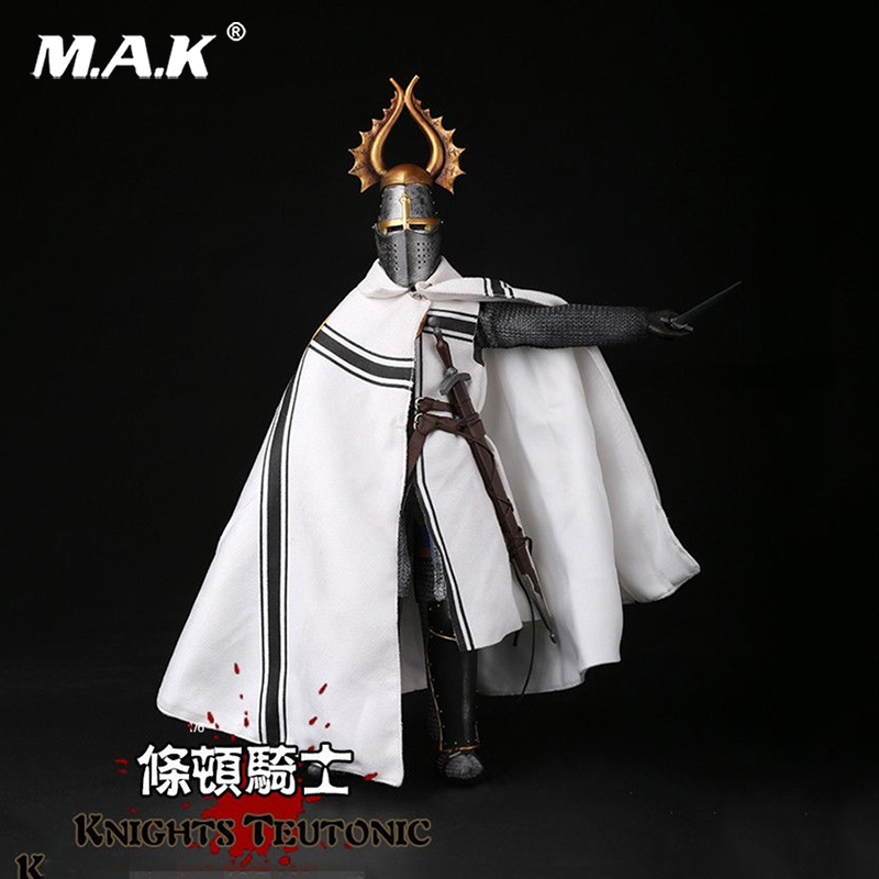 Full set China Toy 1/6 Medieval Knight Teutonic Soldier Colletible 12'' Action Figure Model Toy for Collection full set china toy 1 6 zh007 greece heavy armor infantry 12 male soldier figure model toy for collection