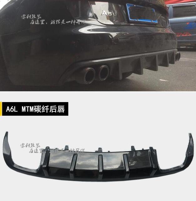 Discount NEW Carbon fiber Rear Bumper Lip Spoiler Diffuser