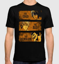 Death Note Art T-Shirt, The Good The Bad The Shinigami Tops 2019 Short Shirt Hip Hop Starnger Things Polyester T Shirts(China)