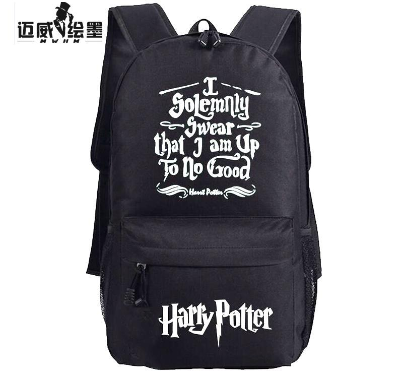 new hot sale harry potter backpacks printing women men