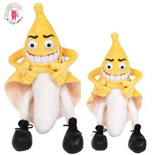 1pcs 36cm 55cm New evil banana man funny novelty stuffed plush toy fruit cute soft stuffed doll wedding valentine day kids gift