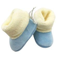 Новые Зимние Новорожденный Flock Теплые Предварительно ходок Обувь для Новорожденных Мальчик в Девочке Малышей Мягкой Подошве Впервые Уокер