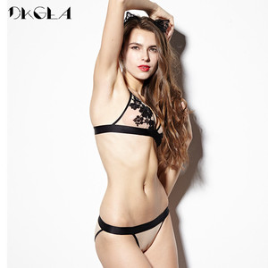Image 5 - 2020 New Hollow Out Sexy Underwear Women Bra Set Luxury Seamless Brassiere Brand Transparent Bras Lace Lingerie Set Embroidery