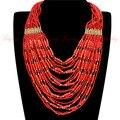 Livre o navio 14 estilos cores natal o melhor jóias preço barato resina Handmade Beads 20 camadas cadeia Bib colar pingente