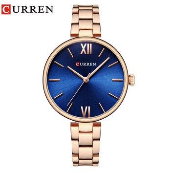 CURREN Women Watches Top Famous Brand Luxury Bracelet Quartz Watch Female Ladies Watches Women Wristwatches Relogio Feminino дамски часовници розово злато