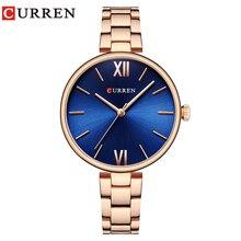 CURREN Для женщин часы топ известный бренд роскошный браслет кварцевые часы женские часы Для женщин Наручные Часы Relogio Feminino