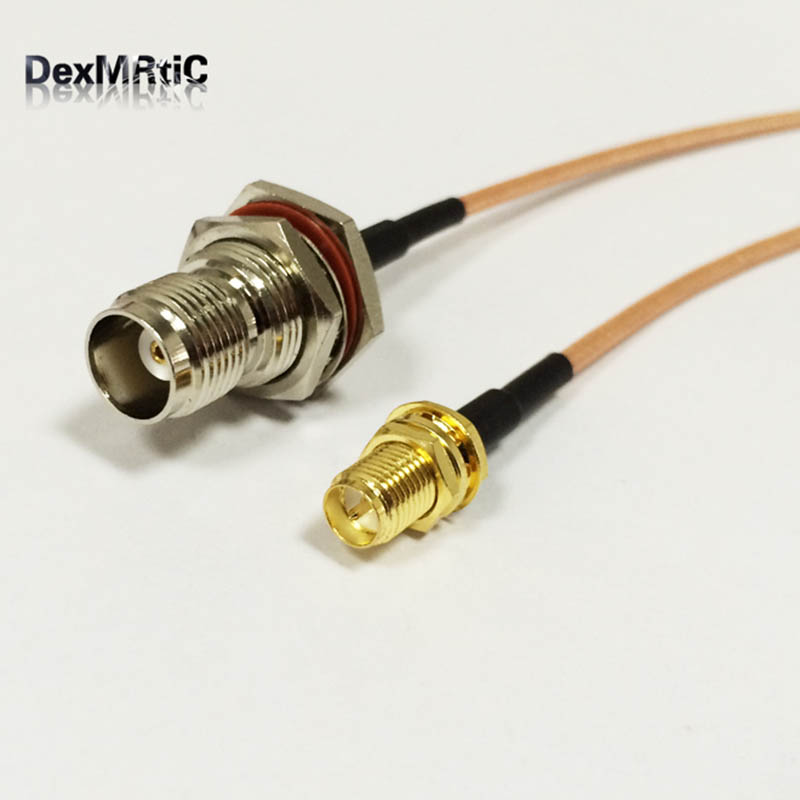 1pc N female to RP-SMA female RG58 50cm RF cable Quick USA Shipping