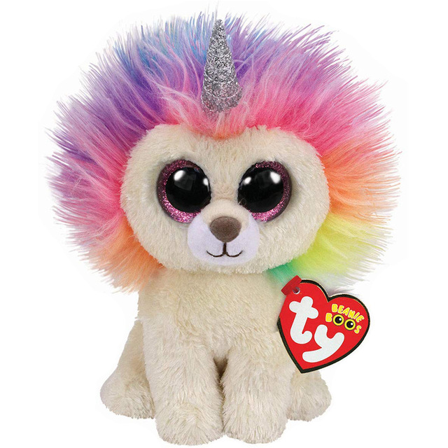 Stuffed & Plush Animals Toys & Hobbies Strong-Willed 15cm Hot Ty Beanie Boos Big Eyes Colorful Lion Lemur Unicorn Sequin Owl Penguin Dog Cat Plush Toy Doll Stuffed Animal Plush Kid Relieving Heat And Sunstroke