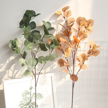 Artificial flower eucalyptus leaves money leaf ginkgo home decoration plant wall fake flowers