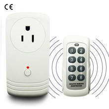 US Plug With Socket RF 433MHz Wireless Remote Control Power Outlet Light Switch Plug Socket For Smart Home Energy Saving Lights стоимость