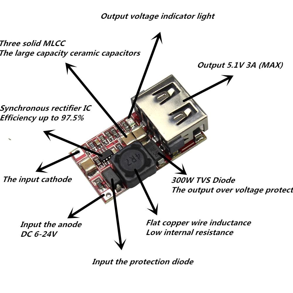 Dc V V V To V Usb Output Charger Step Down Power Module Mini Dc on Solar Power Wiring Diagram