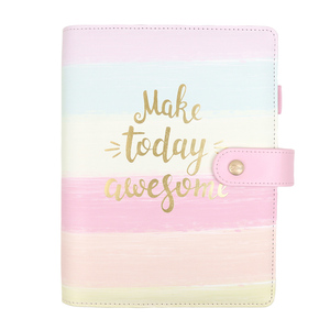 Image 1 - Jamie Notes Cute Pink Leather Binder Notebook A5A6 2019 Planner Sweet Girly Diary Book Office & School Gift Stationery Supplies