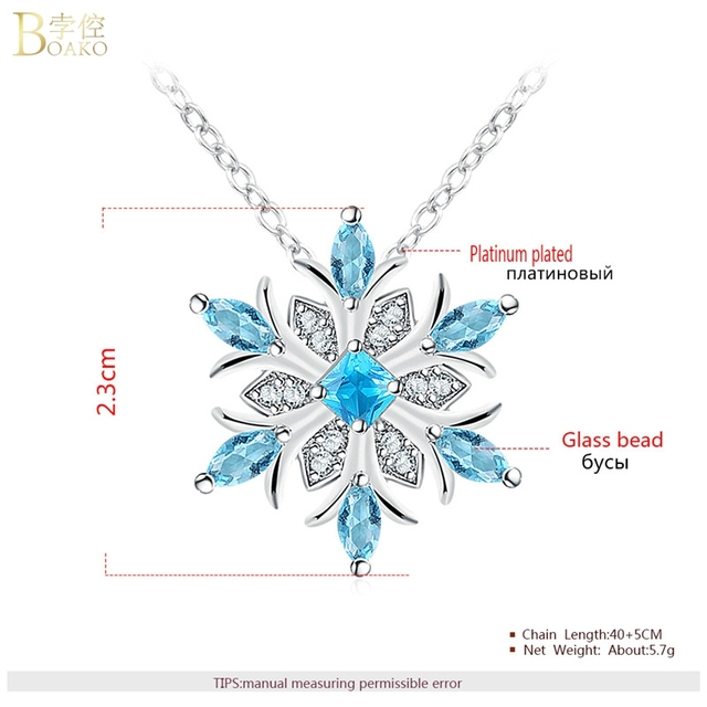 Snowflake Crystal Necklace 6