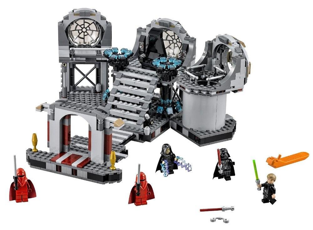ФОТО BELA Star Wars Death Star Final Duel Building Blocks Kids Figure Toys Bricks Marvel compatible with legoe