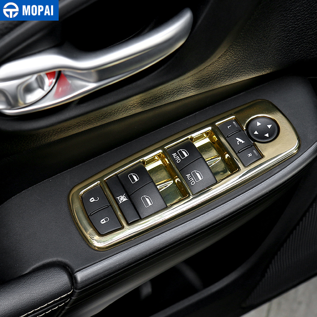 MOPAI ABS Car Interior Window Switch Button Decoration Cover Stickers for Jeep Cherokee for Grand Cherokee for Dodge Durango 2