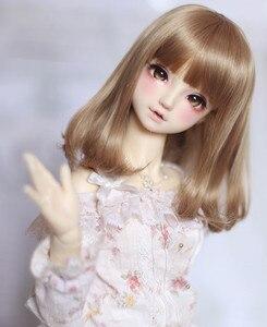 Image 4 - Perruques bouclées poire brun clair, fil haute température disponible pour 1/4 /1/3 poupées, BJD DD DY, accessoires de poupée