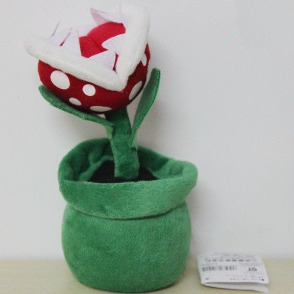 Wholesale New Nintendo Super Mario bros Flower Decoration 8inch Piranha Plant Soft Plush Doll Toy Gift