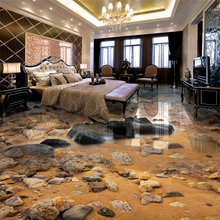 beibehang Custom papel de parede 3d wallpaper classic pvc seaside sandstone river living room bathroom tile floor painting customized 3d wallpaper 3d floor painting wallpaper flame 3d bathroom floor tile in a sitting room 3d living room photo wallpaer