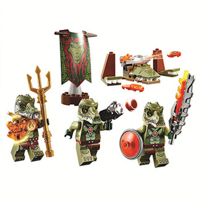 Bricks, Giftse, With, Figures, Compatible, CHIMA