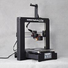 2016 Новый Лучшее Качество Reprap Основной Разработчик Prusa WANHAO 3D принтер с Сенсорным Экраном Авто Уровень Свободной Нити и SD карты