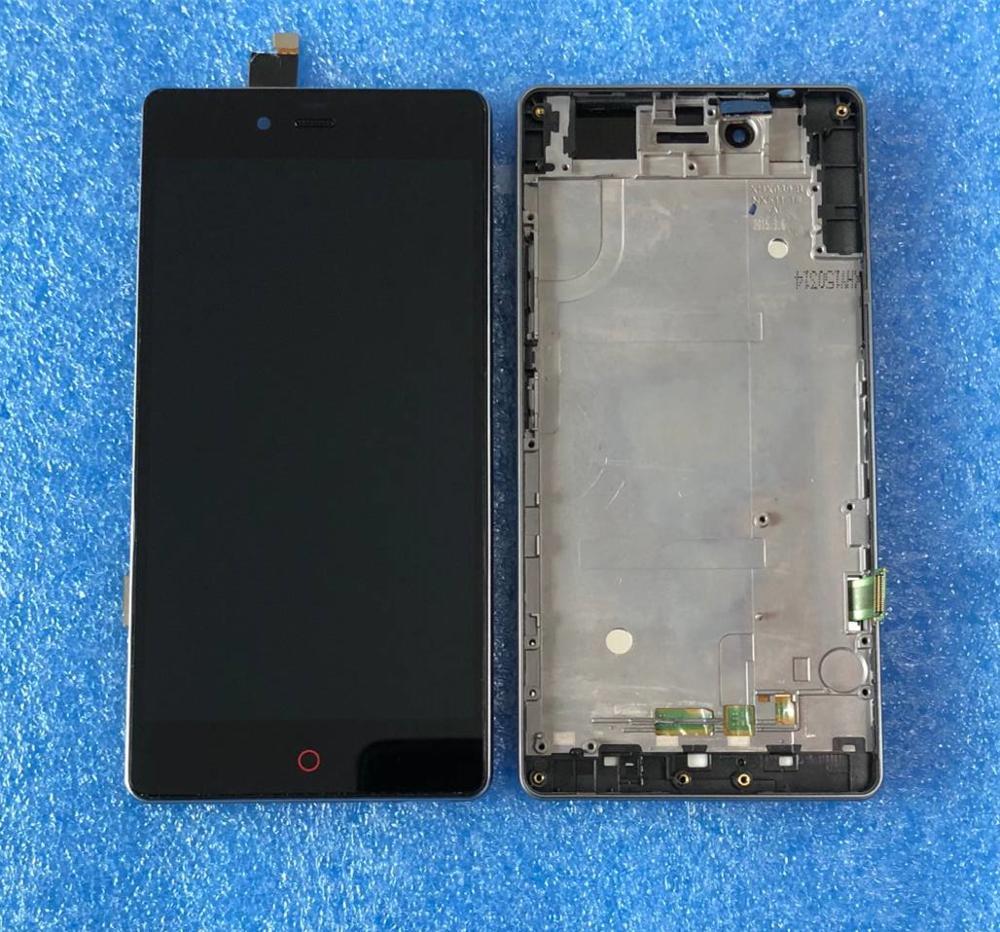 Per ZTE nubia z9 mini NX511J Axisinternational LCD screen Display + Touch Digitizer con telaio per nubia z9 mini NX511j Cornice del PANNELLO LCD