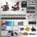 Complete Tattoo Kit 2 Machine Gun Set  Ink with case  10-24GD-3