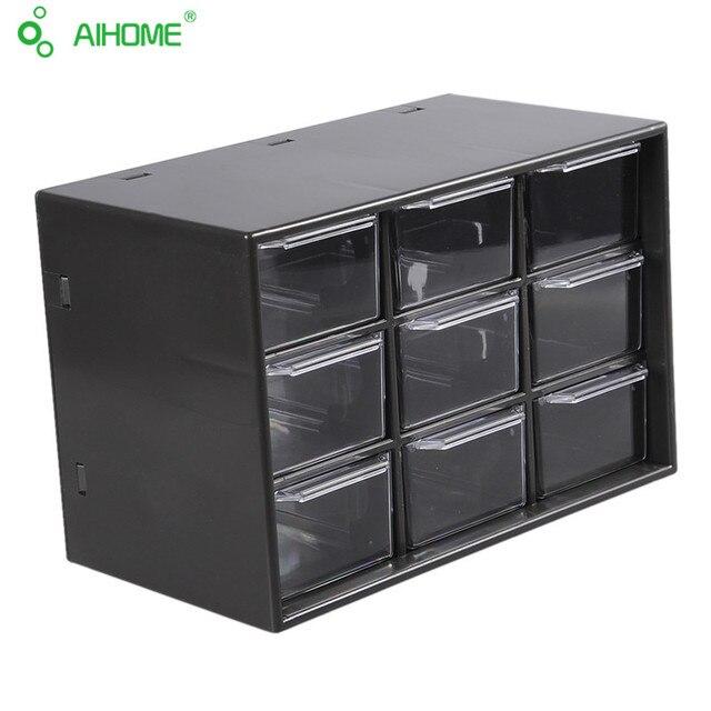 1PC Jewelry Storage Box Cabinets Lattice Portable Amall Drawer (White & Black Random)Desktop Office Supplies