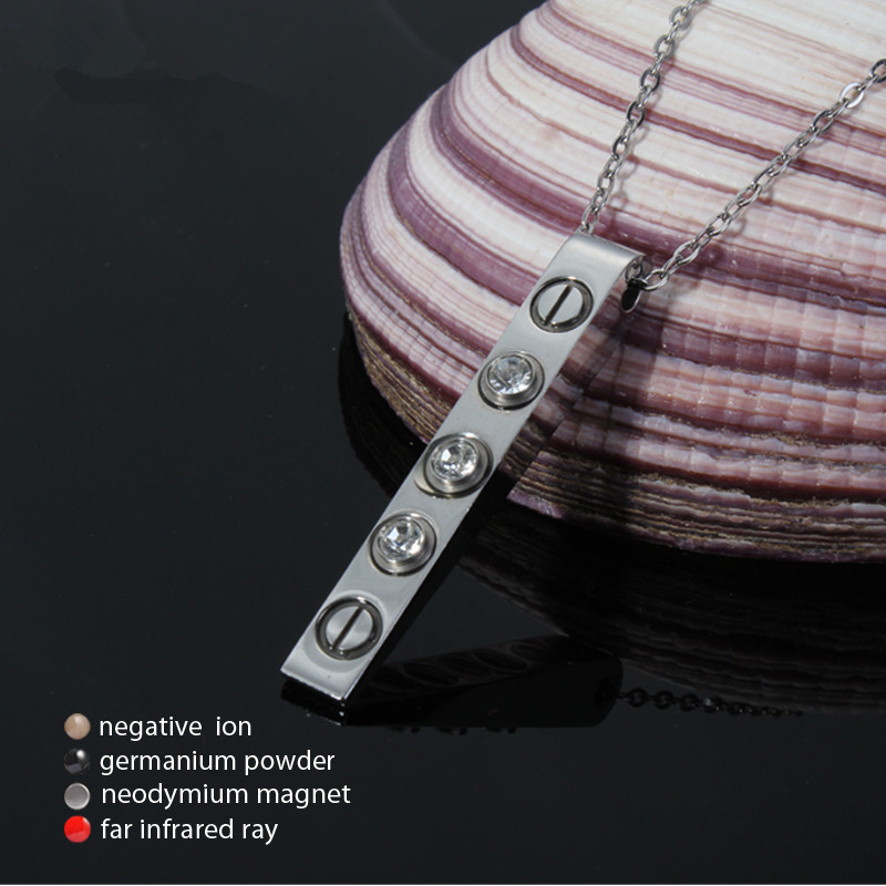 LITTLE FROG Magnetic Therapy Scalar Quantum Energy Ions Pendant for Men Necklace Crystals Stainless Steel Necklaces & Pendants