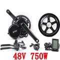 Freies verschiffen 48 v 750 watt 8fun/bafang motor C965 LCD BBS02 neueste controller kurbel Motor eletric fahrräder trike ebike kits