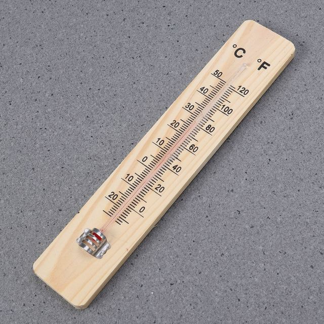Wood Grain Hanging Vertical Indoor Thermometer Temperature Meter Monitor Gauge Fahrenheit and Celsius Scales