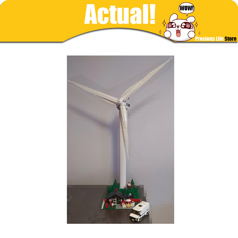 Lepin 37001 837pcs Creative Series The Vestas Windmill Turbine Children Educational Building Blocks Bricks Toys Model Gifts 4999 lepin 37001 creative series the vestas windmill turbine set children educationl building blocks bricks toys model legoing 4999