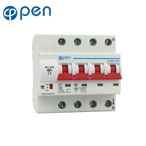 aberto 4 p 63a controle remoto wi fi disjuntor interruptor inteligente support alexa e google