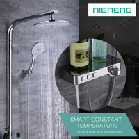 Thermostatic Rain Shower Constant temperature Bathroom Shower Mixer Set with Showerhead, Handheld Shower ICD60654