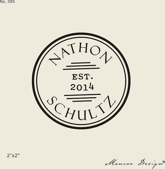 personalized stamp for family newlywed couple wedding stamp est sate