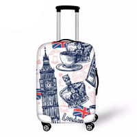 3D Londo Travel Luggage Protective Cover for 18-30 Inch Trolley Suitcase Elastic Trunk Case Dust Covers with Zipper