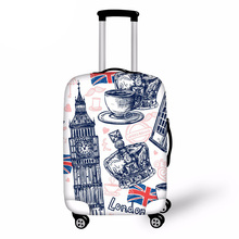 3D Londo Travel Luggage Protective Cover for 18-30 Inch Trolley Suitcase Elastic Trunk Case Dust Covers with Zipper hmunii case cover thick elastic luggage protective cover zipper suit for 18 30 inch trunk case travel suitcase covers bags a1 14