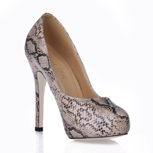 Sexy Snakeskin Party High Heel Stiletto Women Pumps Scare da Donna Tacco Alto a Spillo Sera Talon Haut Aiguille P16-3