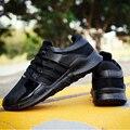 Новые Случайные пара обуви Мода Квартиры Толстой Подошве Спортивная Обувь Тренеры Zapatillas Deportivas Hombre Бег Кеды