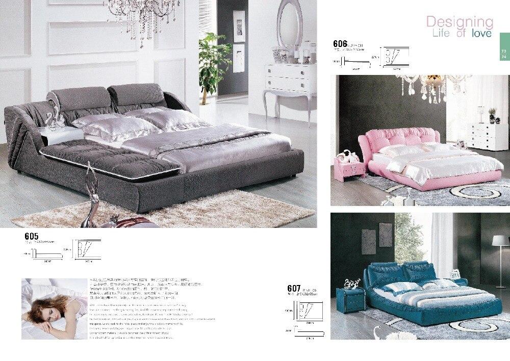 online slaapkamer meubels prijzen zwart lederen bed voor koop in